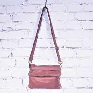 Coss-body Shoulder Bag Purse Brown Made in Italy